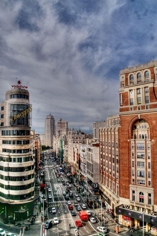 Las Vistas De Madrid Desde La Terraza De El Corte Inglés De