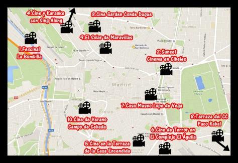 mapa cine