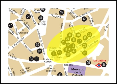 mapa la latina pincho sabado 11