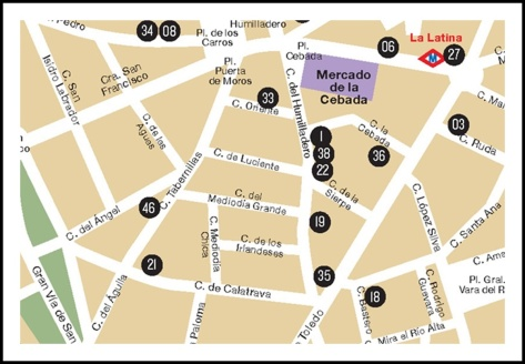 mapa la latina pincho week domingo 19