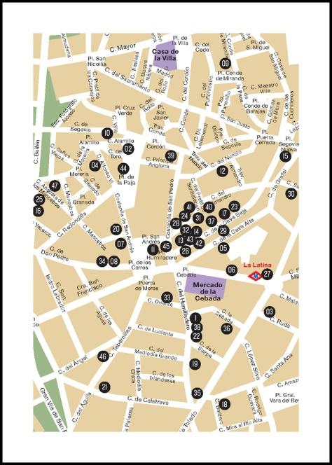 mapa la latina pincho week