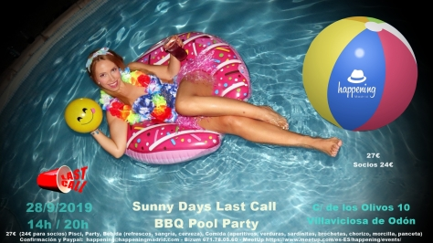 Bbq pool party septiembre