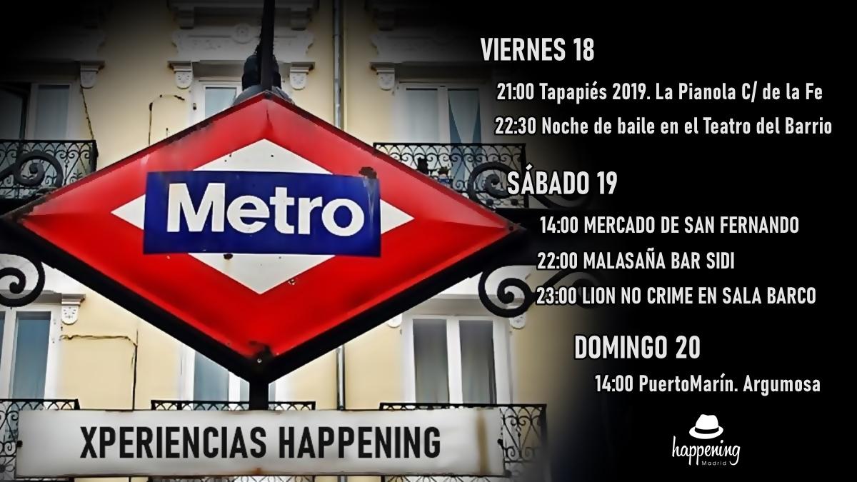 xperiecias happening 100 ac391os de metro con letras - Xperiencias Happening del 18 a 29 de Octubre de 2019