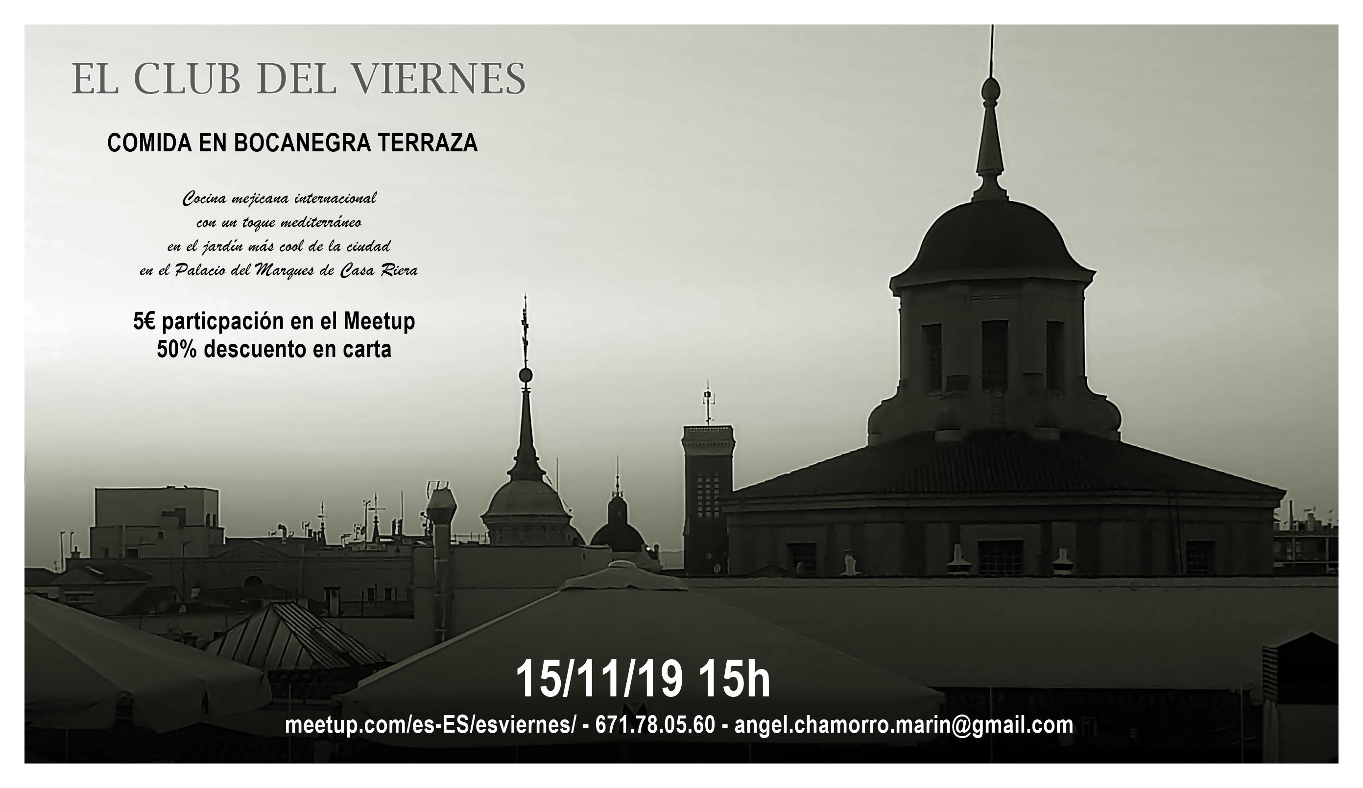 el club del viernes bocanegra - Happening Meetups: JazzMadrid 19, Mercatino di Natale y mucho más