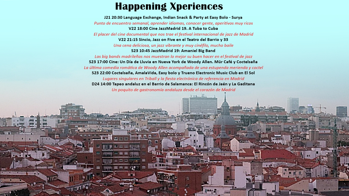happening xperiences del 21 al 24 de noviembre de 2019 - Happening Xperiences del 21 al 24 de noviembre de 2019