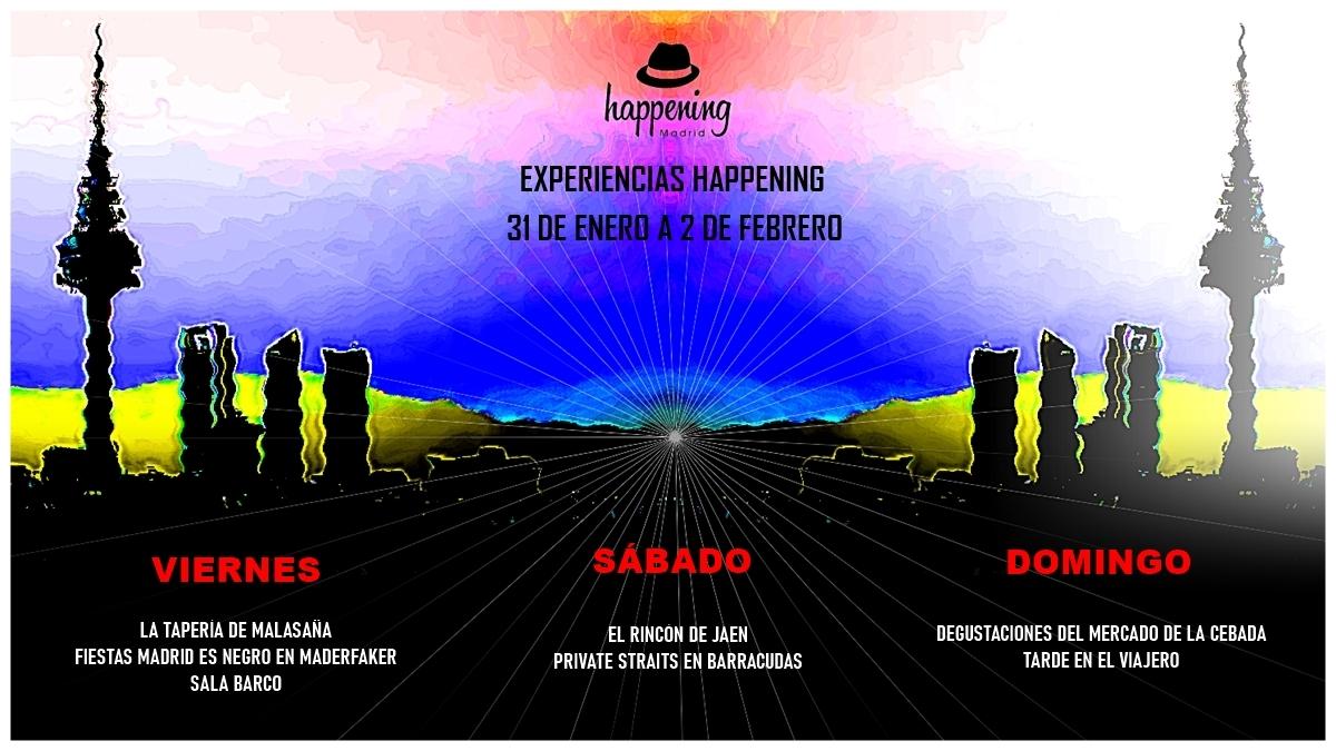 experiencias happening del 31 de enero al 2 de febrero - Experiencias Happening del 31 de enero al 2 de febrero de 2020