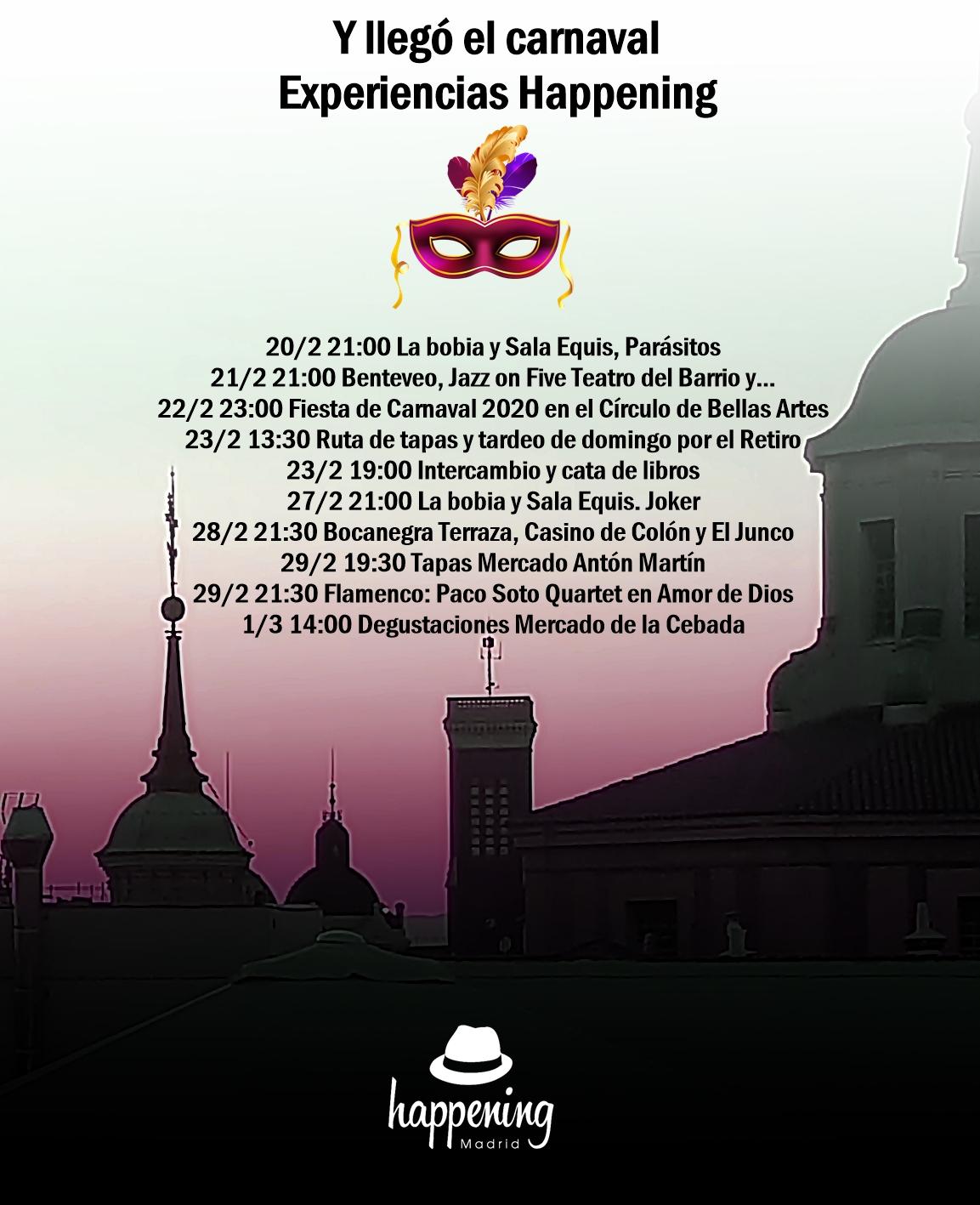 experiencias happening en carnaval 2020 - Experiencias Happening en Carnaval 2020