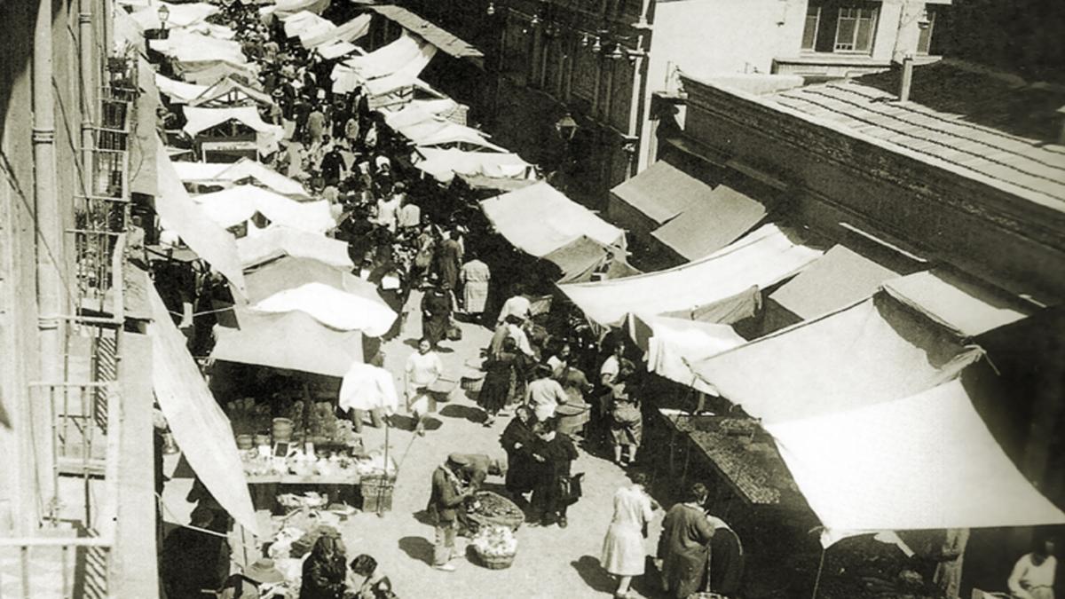 Mercado de Antón Martín en la calle de Santa Isabel